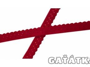 Pruženka 20mm lemovací půlená - červená