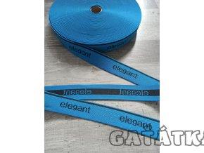 Pruženka elegant 30mm - modrá