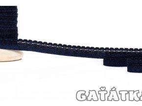Ozdobná pruženka 9 mm - tmavě modrá