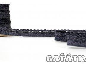 Ozdobná pruženka 9 mm - tmavě šedá