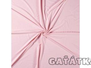Bavlněný úplet s elastanem - baby růžová
