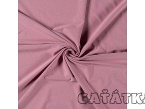 Bavlněný úplet s elastanem - starorůžová růžová