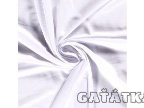 Bambusový úplet s elastanem - bílý