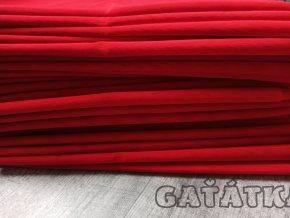 Pružný tyl - červená- 50x150cm