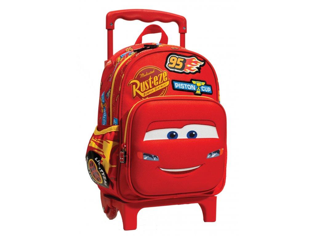 Baťůžek Junior CARS RED na kolečkách
