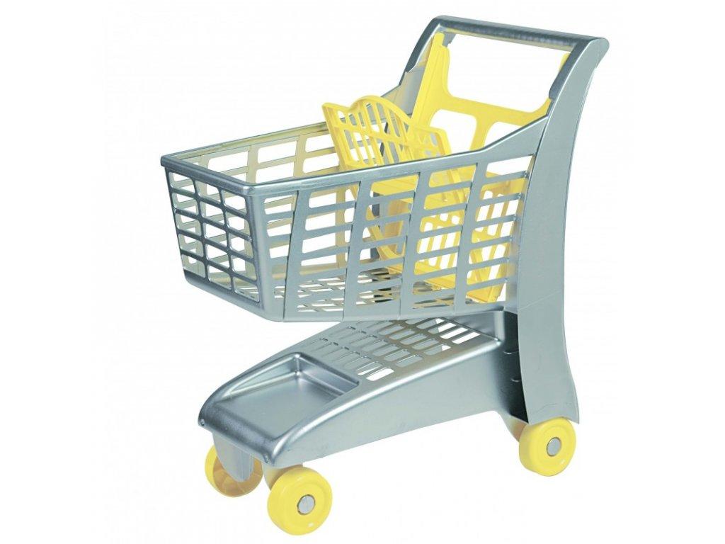 AG Nákupní vozík - stříbrný