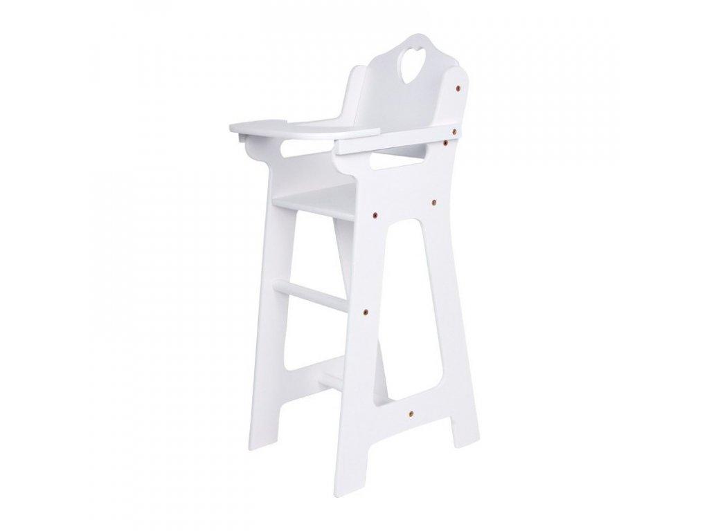 Jídelní židlička pro panenky WHITE