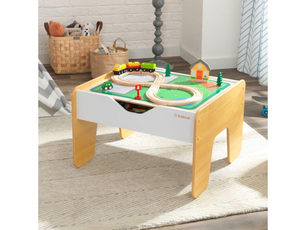 KidKraft Hrací stůl 2v1 s aktivitami