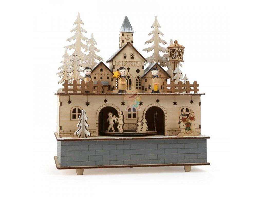 Dřevěný hrací domeček ZIMNÍ KRAJINA