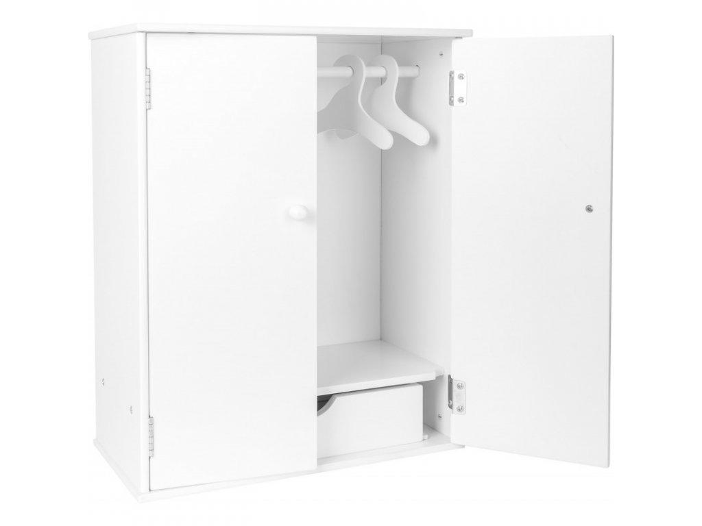SMALL FOOT Šatní skříň  pro panenky WHITE