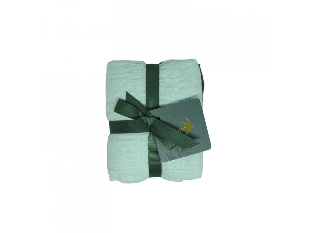 SET 2 KS -Bavlněná mušelínová plena MANGROVE GREEN 70X70 cm