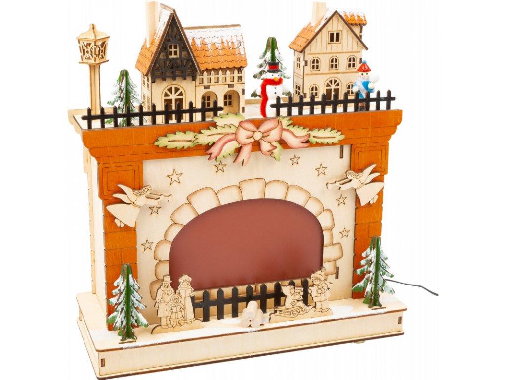 Vánoční lampa Vánoční krb