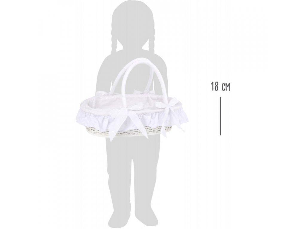 Proutěný košík pro panenky ROSEMARY