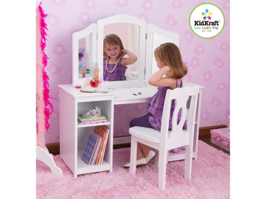 KidKraft DELUXE Toaletní stoleček a židlička