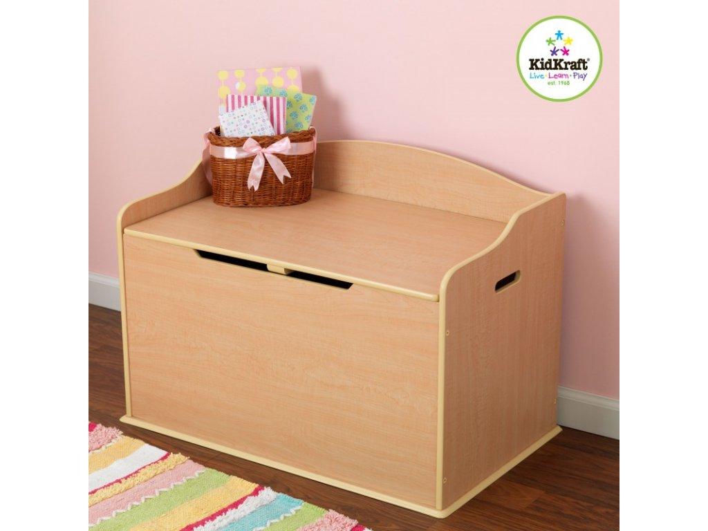 Úložná lavice AUSTIN PŘÍRODNÍ - dětský nábytek