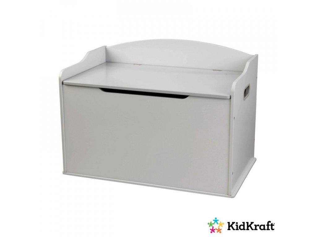 KidKraft Úložná lavice AUSTIN GREY FOG