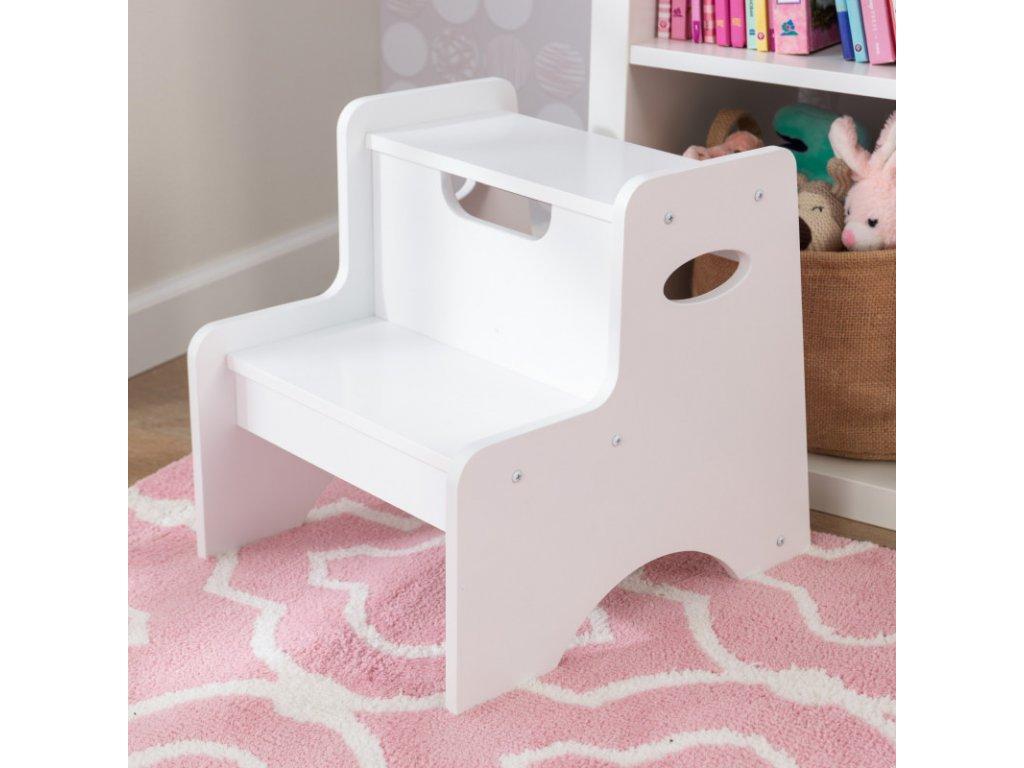 KidKraft Stupátko BÍLÉ - dětský nábytek