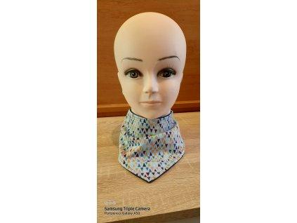 Dětský softshellový šáteček Trojúhelníčky šedá