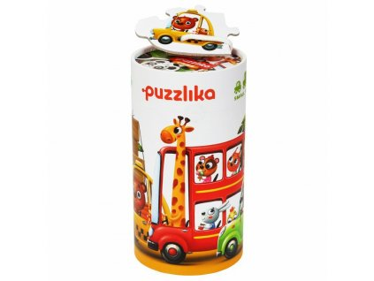 Puzzlika AUTA 5 v 1 -  naučné puzzle - 20 dílků