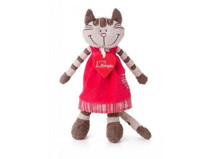 LUMPIN Kočka ANGELIQUE v jahodových šatech