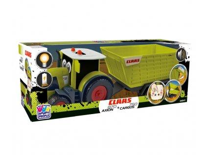 Traktor s přívěsem CLAAS KIDS AXION 870 + CARGOS 750