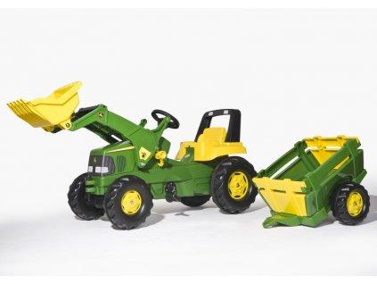 Šlapací traktor Rolly Junior John Deere s nakladačem a vlekem (spec. nabídka 2015)