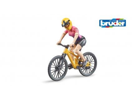 bworld - horské kolo s cyklistkou