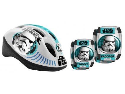StarWars - Bezpečnostní set helma, kolenní a loketní chrániče