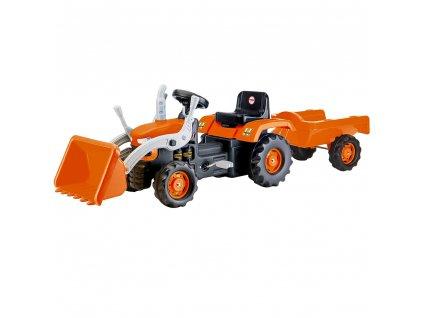 Šlapací traktor s vlečkou a nakladačem
