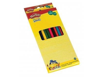PLAY-DOH Trojhranné barevné pastelky 12 ks