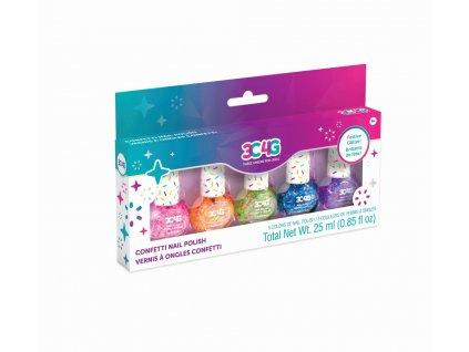 Set laků na nehty konfety
