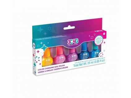 Set laků na nehty měnící barvy