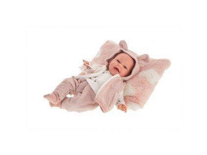 Antonio Juan 70150 CLARA- realistická panenka miminko se zvuky a měkkým látkovým tělem - 34 cm