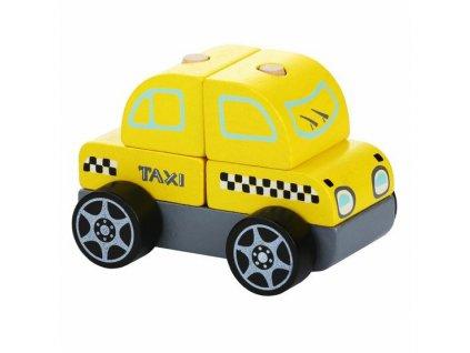 CUBIKA 13159 Taxi vůz - dřevěná skládačka 5 dílů