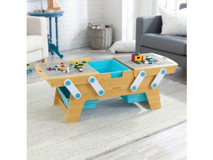 KidKraft Stůl na stavění s úložnými boxy