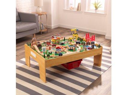 """KidKraft Set se stolem na vláčky """"Dobrodružství ve městě"""";18025"""""""