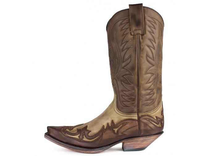 Westernová obuv SENDRA 3241 CUERVO SPRINTER 7004/MAD DOG HUESO