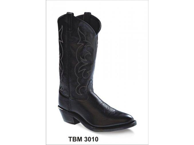 Jama Old West TBM 3010 BLACK pánská westernová obuv