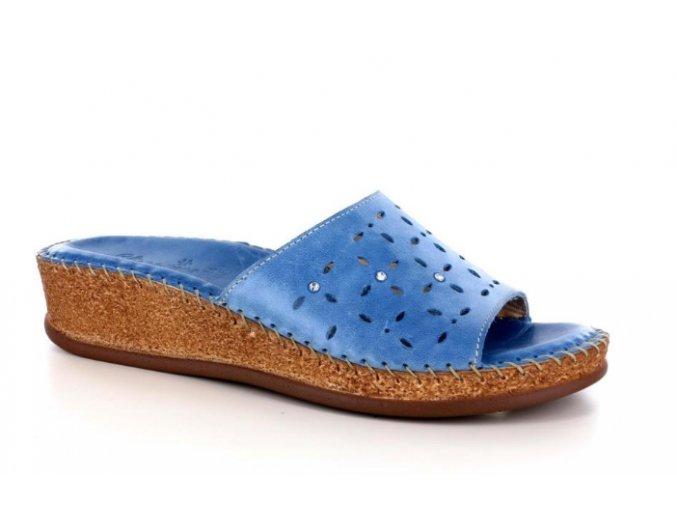 Dámské kožené pantofle JOLIE 140463 ROYAL