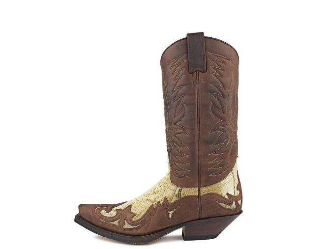 Westernová obuv SENDRA 3241 CUERVO SPRINTER 7004-PYTHON BARR.NATURAL
