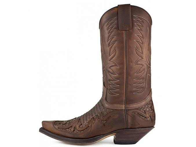 Westernová obuv SENDRA 3241 CUERVO SPRINTER 7004-TRENZA.540 MARRON OSCURO