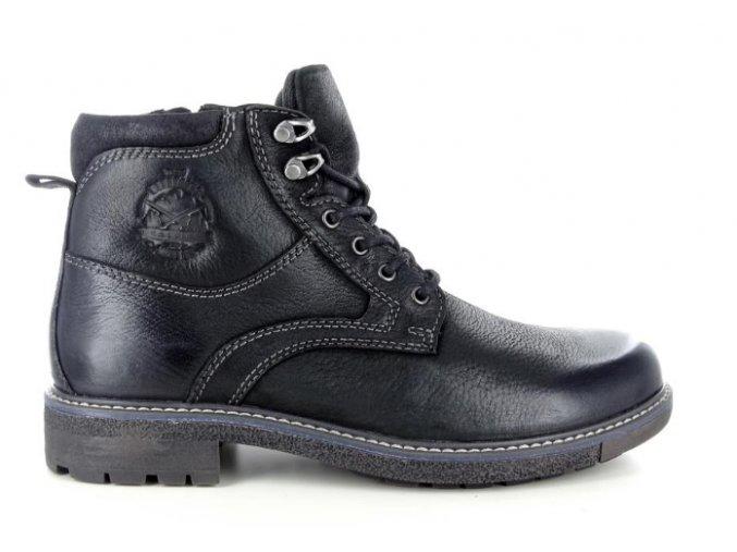 Pánská zimní kotníčková obuv BSL 19224TRI NERO