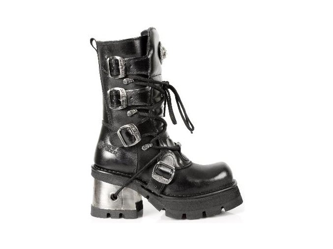 BOTY NEW ROCK M.373-S33 ITALI Y NOMADA NEGRO, PLANING NEGRO M8 ACERO OR Y CAN