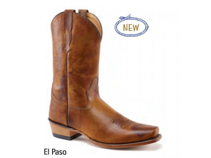 Jama Old West Boots  5555 EL PASO BROWN ANTIQUA pánská westernová obuv