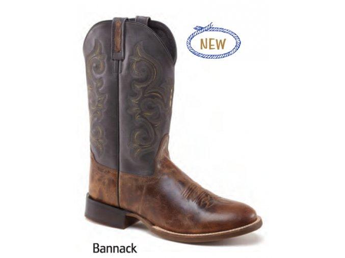 Jama Old West Boots 5708 BROWN/ANTHRACITE pánská westernová obuv