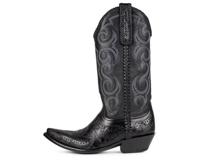 Pánská westernová obuv SENDRA TUCSON SILLERO NEGRO-NAPA NEGRO