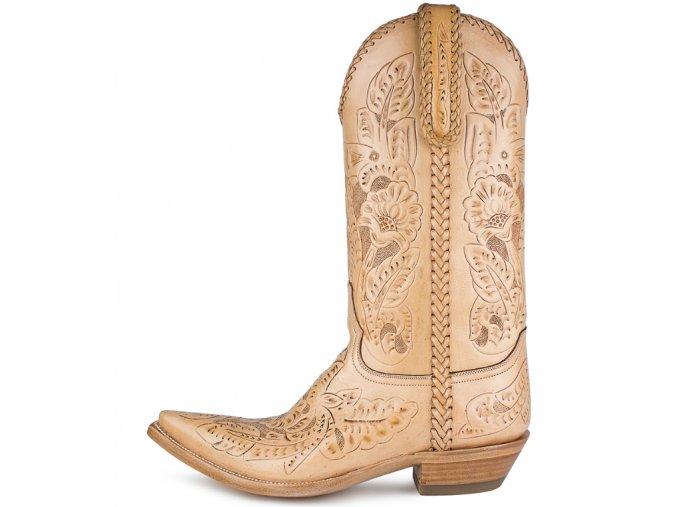 Pánská westernová obuv SENDRA TUCSON SILLERO NATURAL
