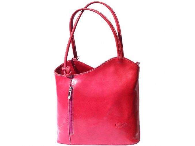 Dámská kožená kabelka Florence 207, barva:Fuchsia