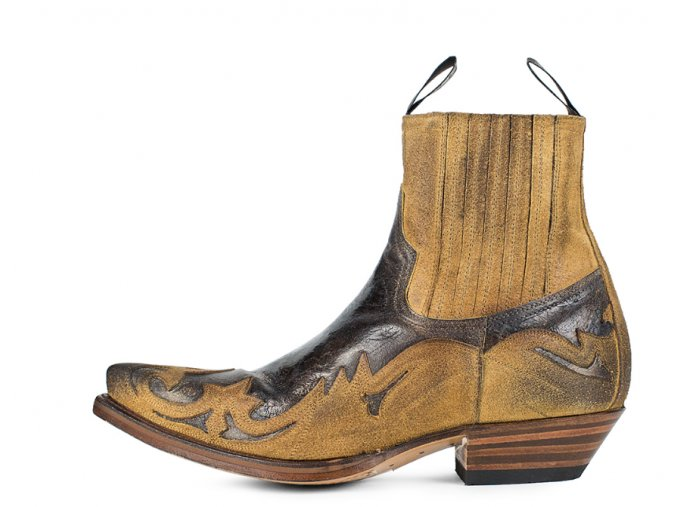 Westernová obuv SENDRA 4660 CUERVO SERRAJE CAMELLO BORRON-BARBADOS QUERCIA