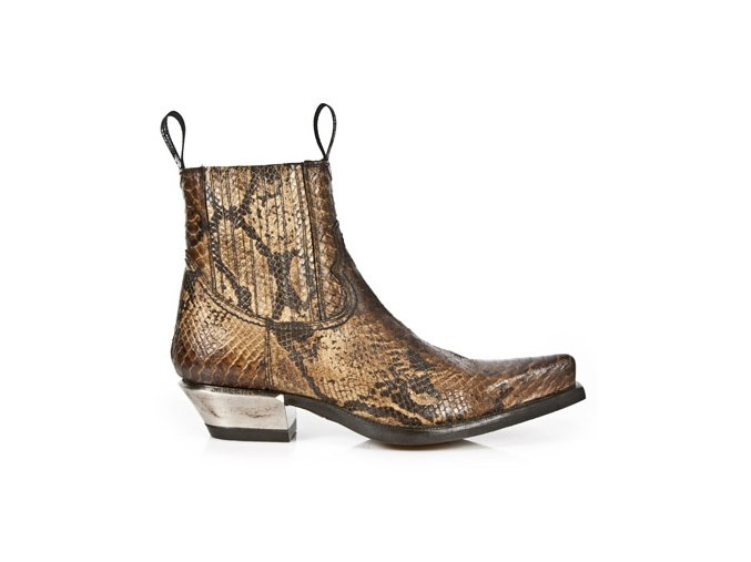 BOTY NEW ROCK M.7953-S7 SNAKE CUERO, WEST NEGRO ACERO